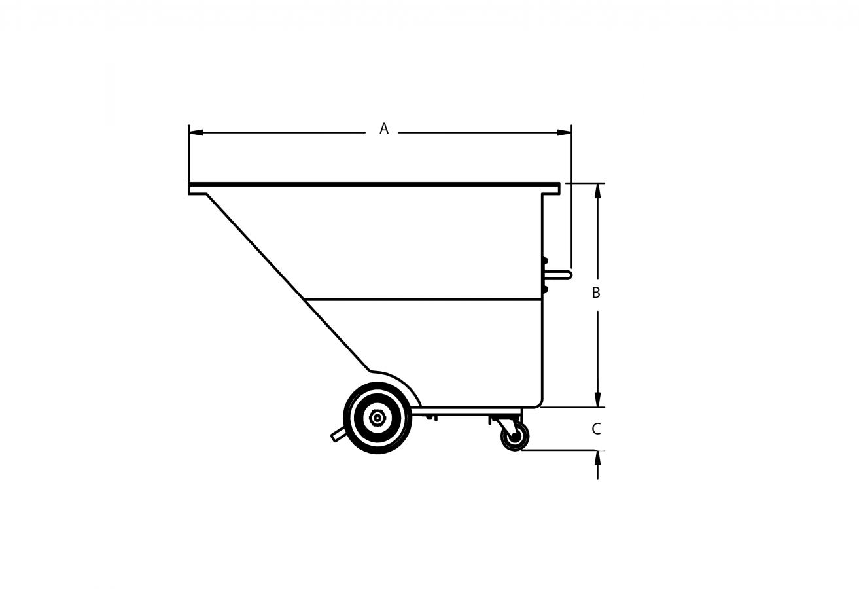 CBP- Chariot Basculant en polyéthylène extra robuste