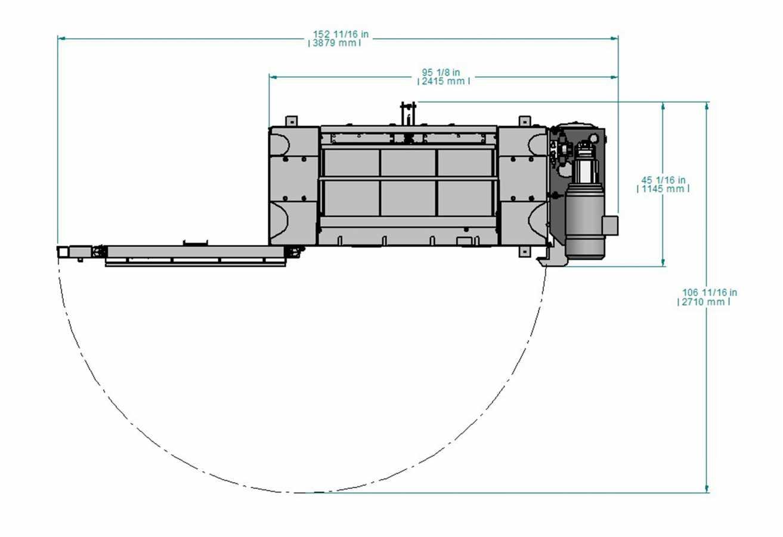 Presse verticale à profil bas PVB-600-LP