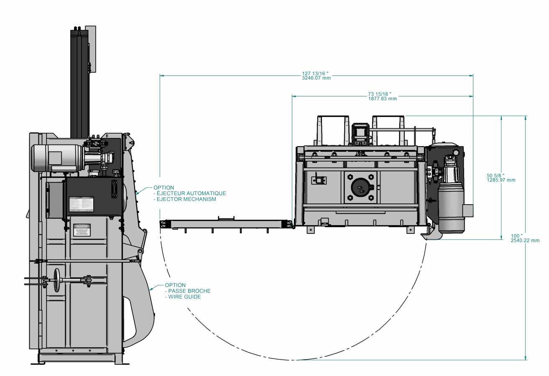 Presse verticale PVB-600 - avec éjecteur de ballots optinnel