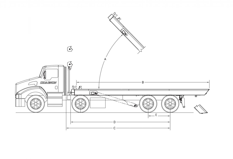 DRC-6025-AF - Above frame lift cylinders