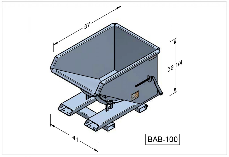 BAB-100 - Benne autobasculante