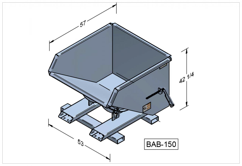 BAB-150 - Benne autobasculante