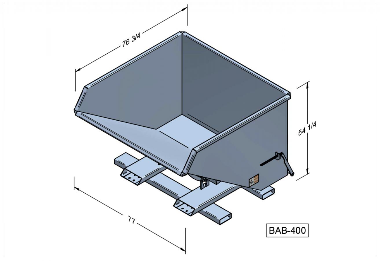 BAB-400 - Benne autobasculante