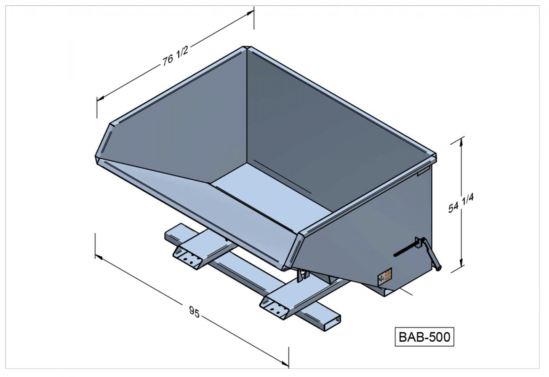 BAB-500 - Benne autobasculante